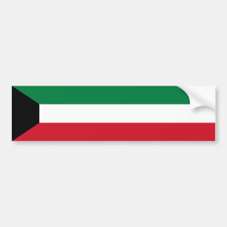 Kuwait/Kuwaiti Flag Car Bumper Sticker
