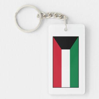 Kuwait – Kuwaiti Flag Double-Sided Rectangular Acrylic Keychain