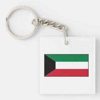 Kuwait – Kuwaiti Flag Double-Sided Square Acrylic Keychain