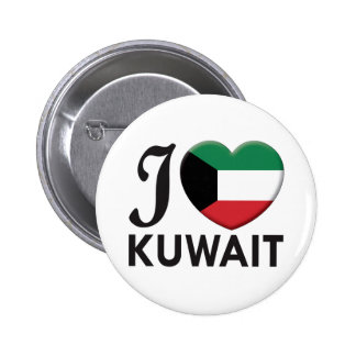 Kuwait Love 2 Inch Round Button