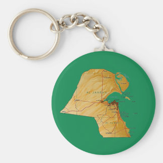 Kuwait Map Keychain