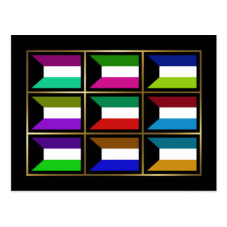 Kuwait Multihue Flags Postcard