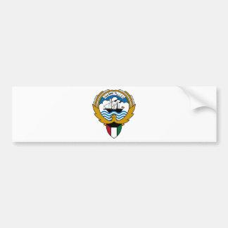 Kuwait National Emblem Car Bumper Sticker