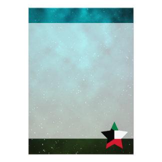 "Kuwait Star Design Flag 5"" X 7"" Invitation Card"