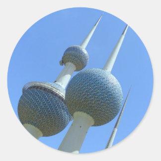 Kuwait Towers Classic Round Sticker