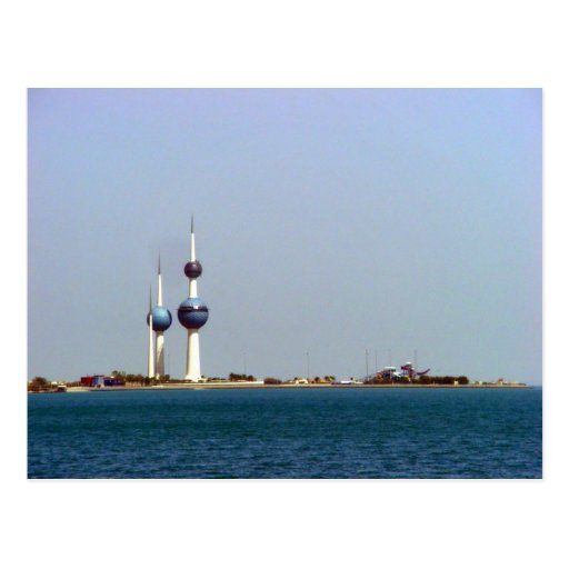 Kuwait Towers ocean view Postcard