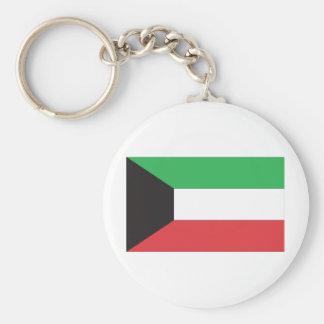 Kuwaiti Flag Basic Round Button Keychain