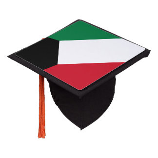 Kuwaiti flag graduation cap topper