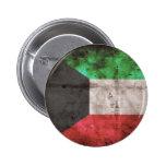 Kuwaiti Flag Pinback Button