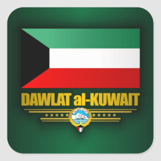 Kuwaiti Pride Square Sticker