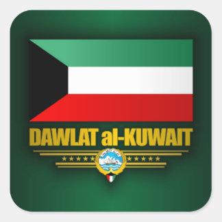 Kuwaiti Pride Square Sticker