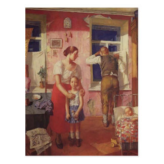 Kuzma Petrov-Vodkin- 1919. Alarm Post Card