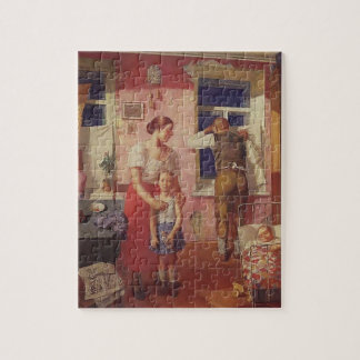 Kuzma Petrov-Vodkin- 1919. Alarm Jigsaw Puzzle