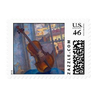 Kuzma Petrov-Vodkin - A Violin Stamp
