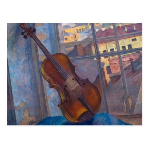 Violin by Kuzma Petrov-Vodkin Postcard