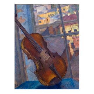 Kuzma Petrov-Vodkin - A Violin Post Card