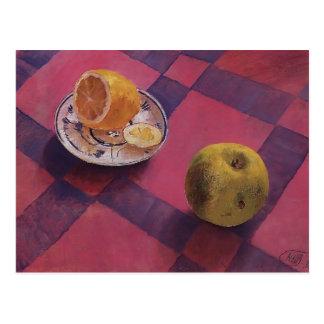 Kuzma Petrov-Vodkin- Apple and lemon Post Card