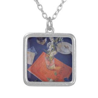 Kuzma Petrov-Vodkin- Bird cherry in a glass Personalized Necklace