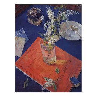 Kuzma Petrov-Vodkin- Bird cherry in a glass Postcard