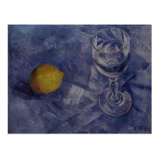 Kuzma Petrov-Vodkin- Glass and lemon Post Card