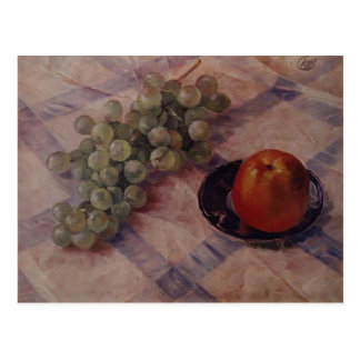 Kuzma Petrov-Vodkin- Grapes and apples Postcard