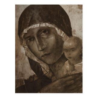 Kuzma Petrov-Vodkin- Madonna and Child Postcard