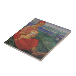 Kuzma Petrov-Vodkin- Mother Ceramic Tile