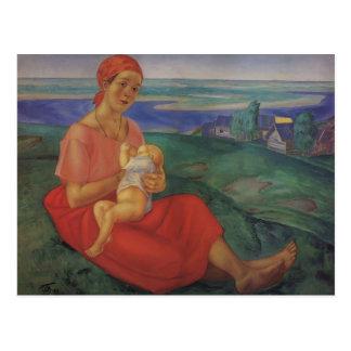 Kuzma Petrov-Vodkin- Mother Postcard