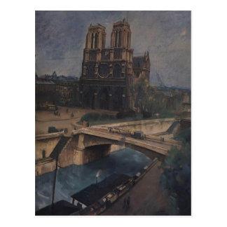 Kuzma Petrov-Vodkin- Paris.Notre-Dame Postcards