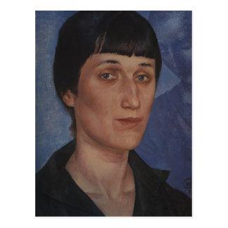 Kuzma Petrov-Vodkin- Portrait of Anna Akhmatova Post Card