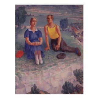 Kuzma Petrov-Vodkin- Spring Post Cards