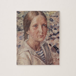Kuzma Petrov-Vodkin- The girl on the beach Jigsaw Puzzle