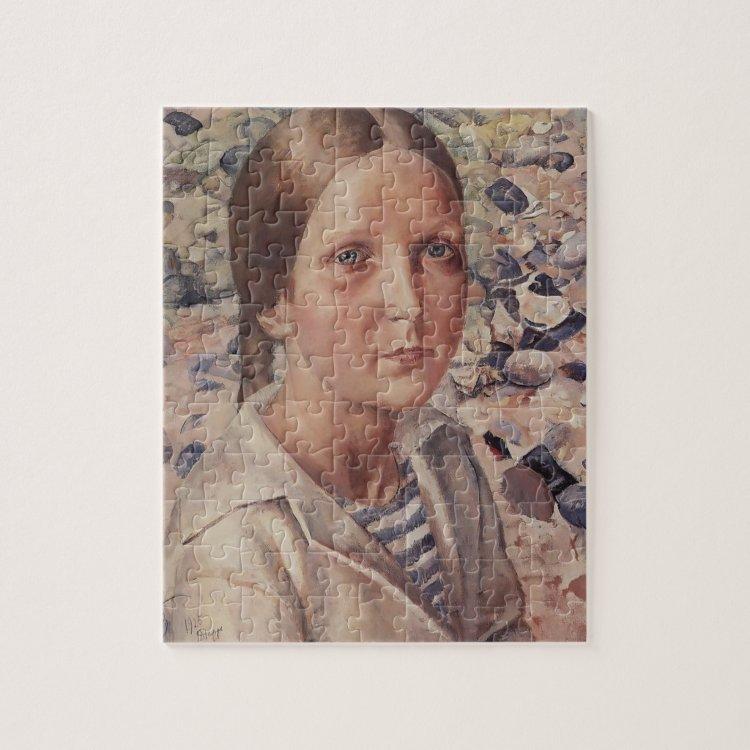 Kuzma Petrov-Vodkin- The girl on the beach