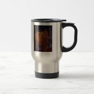 Kuzma Petrov-Vodkin- Yellow face (female face) 15 Oz Stainless Steel Travel Mug