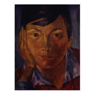 Kuzma Petrov-Vodkin- Yellow face (female face) Post Card