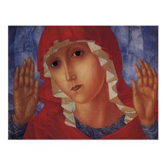 Kuzma Vodkin- Virgin of Tenderness evil hearts Post Card