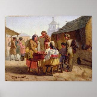 Kvas Seller, 1862 Poster