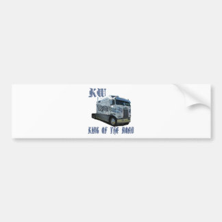 KW King of the Road Bumper Sticker