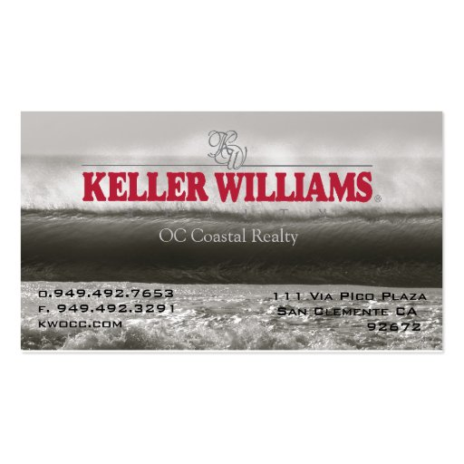 KW offshore wall Business Card Templates