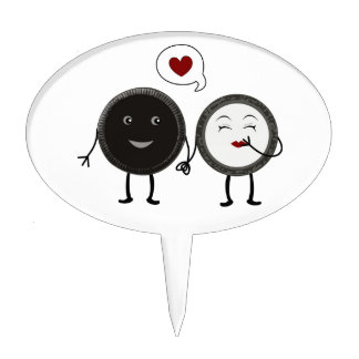 Kwaii Cookies and Cream Love Cake Toppers