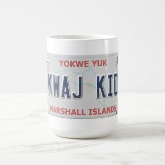 Kwaj Kid Vanity License Plate Coffee Mug