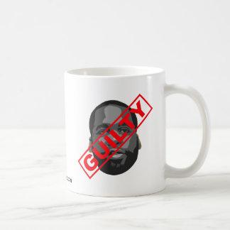 Kwame - culpable taza básica blanca