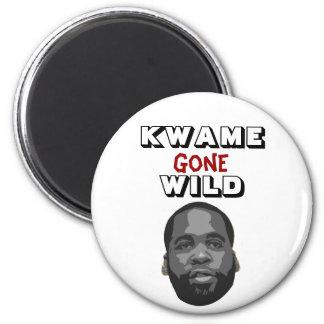 Kwame Gone Wild 2 Inch Round Magnet