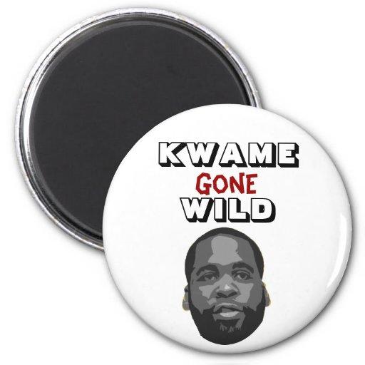 Kwame Gone Wild Fridge Magnets