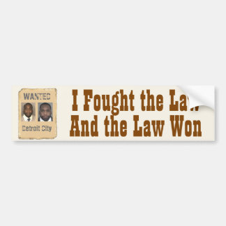 Kwame - I Fought the Law Bumper Sticker