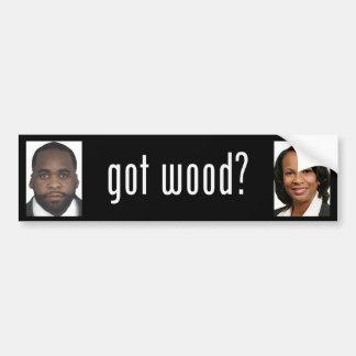 Kwame Kilpatrick: Got Wood? Bumper Sticker