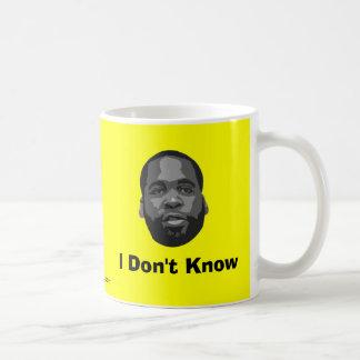 Kwame Kilpatrick:  I Don't Know Coffee Mug