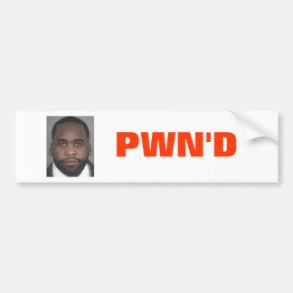 Kwame Kilpatrick: PWN'D Bumper Sticker