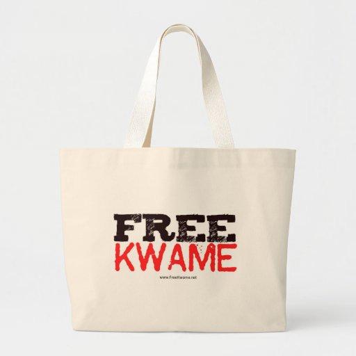 ¡Kwame libre! Engranaje de 2013 funcionarios Bolsa Tela Grande