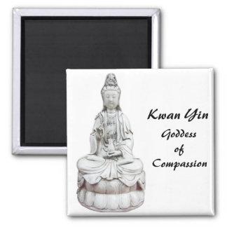 Kwan Yin 1 2 Inch Square Magnet